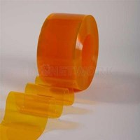 Jual Tirai plastik pvc curtain orange jakarta