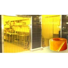 stip PVC curtain yellow