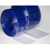Strip Pvc Curtain Blue Clear