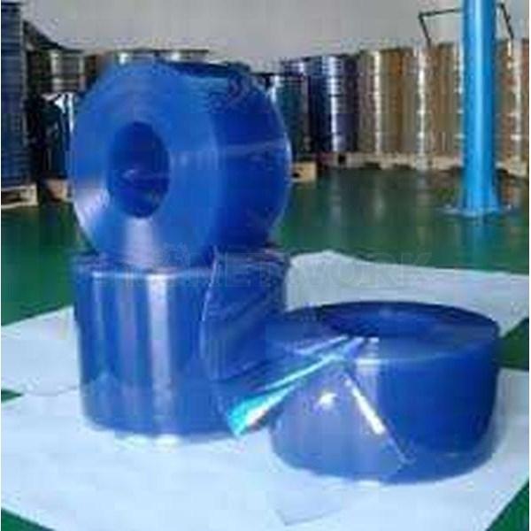 Tirai pvc curtain blue clear