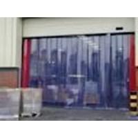Tirai Pvc Curtain Blue Clear  ( 085782614337 )