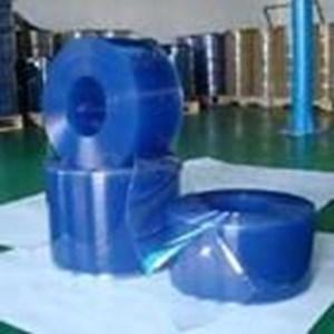 Tirai PVC Plastik Blue