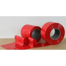 Tirai PVC Platik Merah Murah