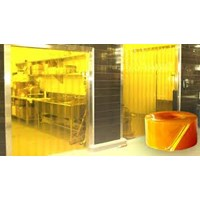 Gorden plastik pvc curtain kuning