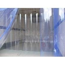 Gorden Plastik Pvc Curtain Blue Clear