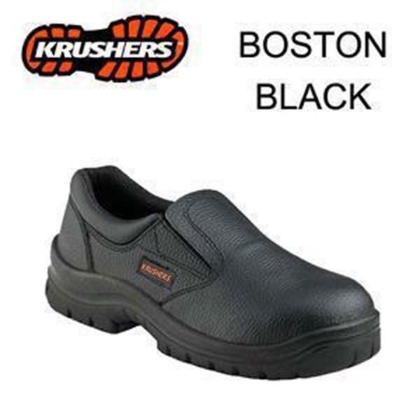 Sepatu Safety Shoes Krushers Boston Black Murah Berkualitas HUB atau WA 081280588834