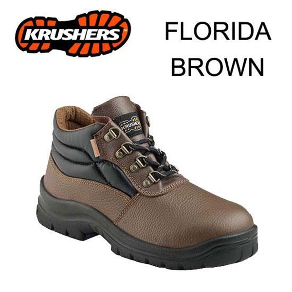 Safety Shoes Krusher Florida Brown ORI Murah Berkualitas HUB atau WA 081280588834