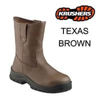 Sepatu Safety Shoes Krushers Texas Brown Murah Ber