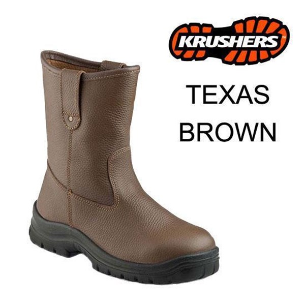 Sepatu Safety Shoes Krushers Texas Brown Murah Berkualitas HUB atau WA 081280588834