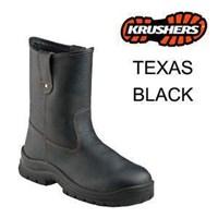 Sepatu Safety Shoes Krushers Texas Black Murah Berkualitas HUB atau WA 081280588834