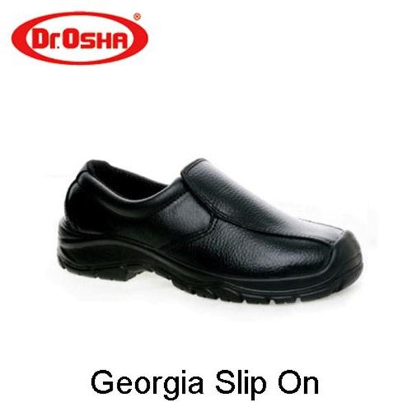 Sepatu Safety Shoes Dr Osha Georgia slip on murha berkualitas HUB atau WA 081280588834