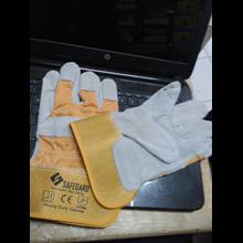 Sarung Tangan kombinasi Kuning Sarung Tangan Safeguard murah berkualitas HUB atau WA 081280588834