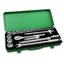 Kunci Sok  Set 24 Pcs 8-32 Mm 6pt Box Metal murah berkualitas HUB atau WA 081280588834