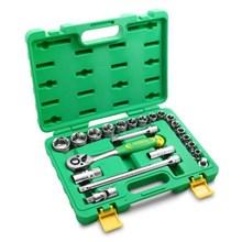Kunci Sok Set 22 Pcs 10-32 Mm 12pt Box Plastik Merk Tekiro  murah berkualitas HUB atau WA 081280588834