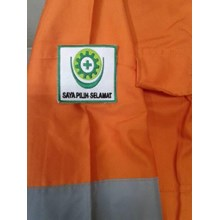 Setelan Baju Celana Safety Berikut Bordir / Pakaian Safety Murah berkualitas HUB atau WA 081280588834