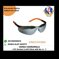 Kacamata Safety King's Ky 2224 + Nylon Bag Murah Berkualitas HUB atau WA 081208588834