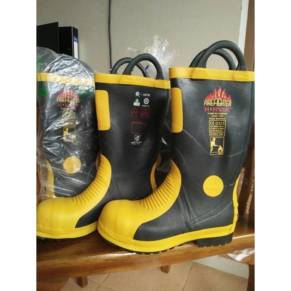 Sepatu Safety Boot Pemadam Fire Ranger Boot Harvik Murah Berkualitas HUb atau WA 081280588834