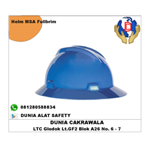 Helm Safety MSA V-Gard Full Brim Original murah be