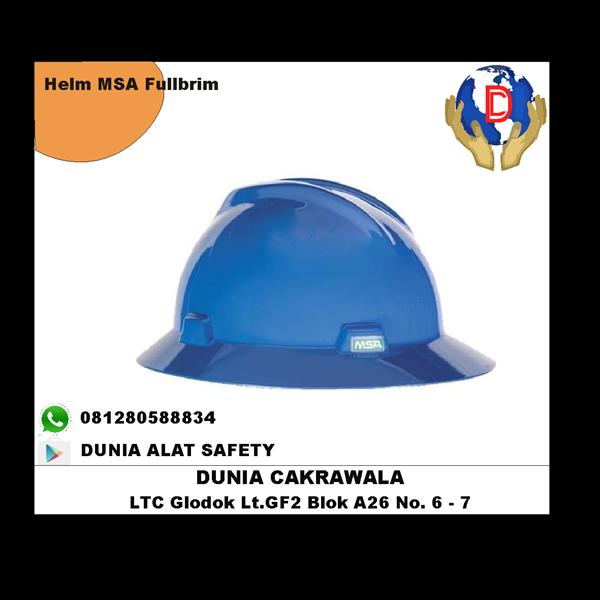 Helm Safety MSA V-Gard Full Brim Original murah berkualitas HUB atau WA 081280588834