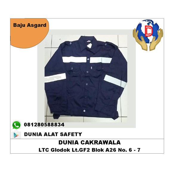 Seragam Kerja Safety Asgard Baju Kerja Asgard bahan Japan Drill / Pakaian Safety murah berkualitas HUB atau WA 081280588834