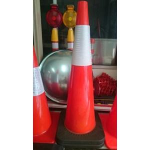 Dari Traffic cone Pvc kerucut jalan 90 cm base hitam murah berkualitas HUB atau WA 081280588834 1