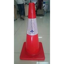 Traffic cone kerucut jalan 70 cm base Orange murah berkualitas HUB atau WA 081280588834
