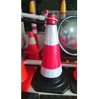 Traffic cone Rubber 70 cm hitam murah berkualitas HUB atau WA 081280588834 2