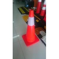 Traffice cone 70 CM Full orange murah berkualitas
