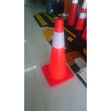 Traffice cone 70 CM Full orange murah berkualitas HUB atau WA 081280588834