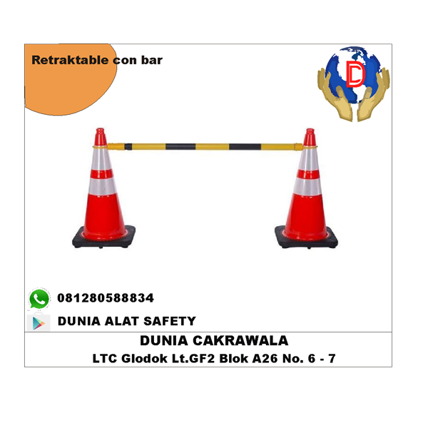 Reractable Cone Bar murah berkualitas HUB atau WA 081280588834
