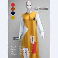 Jual Baju Gamis Kombinasi Gambar Tempel 2019-00020