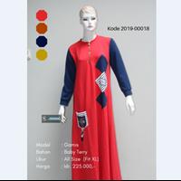 Jual Baju Gamis Kombinasi Gambar Tempel 2019-00018