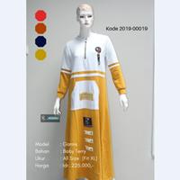 Jual Baju Gamis Kombinasi Saku Depan 2019-00019