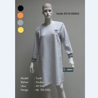 Baju Tunik Garis Bordir Adidas 2019-00003