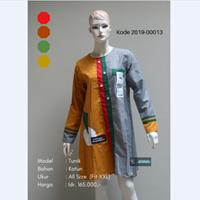 Baju Tunik Kombinasi Kotak - Kotak 2019-00013