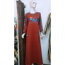 Maroon FILA Shirt Combination Blouse
