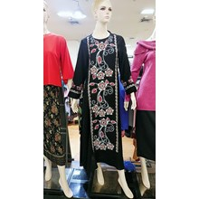 Robe Shirt Patterned Red Combination of Flowers