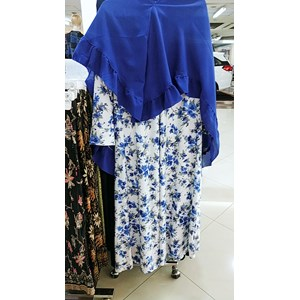 From Gamis Shirt with Flower Pattern in Blue 0