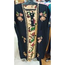Black Flower Patterned negligee