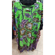 Lowo Negligee Patterned in Green Color