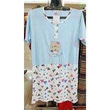 Short Sleeve Cartoon Patterned Dress negligee