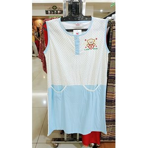 From Sleeveless negligee with blue patterned doll 0