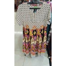 Pink Flower Pattern Combination Klok Dress