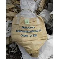 Jual Jumbo bag 500 kg bekas garam kondisi bersih atas bawah corong uk 90 x 80