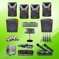 Dari Home Theater Sound System Paket Karaoke A1 : Mixer + Speaker Auderpro 15 Inch + Subwoofer 18 Inch + Player Nakamichi Hardisk Update Via Online 0