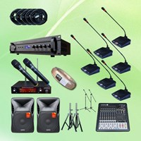 Mikrofon Conference Rapat Paket 2 Pakai 20 Mic + Sound System 1