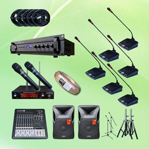 Microphone Conference Package 4 Pakai 10 Mic + Sound System