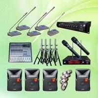 Power Amplifier Paket Mic Conference Auderpro Ao-809 Digital Kabel P2 Pakai 26 Mic + Sound Sound 1