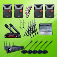 Audio Video Distributor Mic Wireless Conferece A Pakai 41 Mikrofon + Sound System 15 Inch X-Class 1