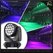 Lampu moving head warna warni big eye zoom 19*10W LM015